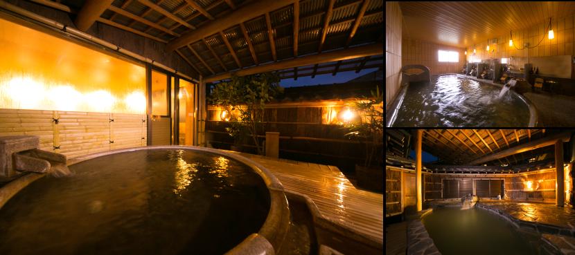 夕食が終わり一息ついた後は、大浴場で温泉に浸かる